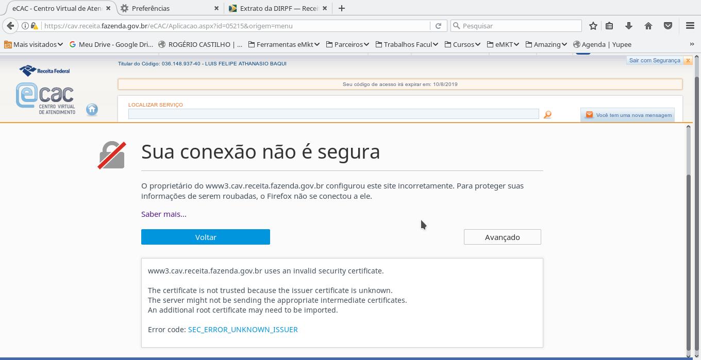 Acessando o eCAC da Receita Federal com o Firefox-03